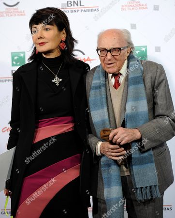 Italian Director Elisabetta Sgarbi (l) and Italian Writer Boris Pahor (r) Pose During the Photocall For the Movie 'Due Volte Delta' at the 9th Annual Rome Film Festival in Rome Italy 23 October 2014 the Festival Runs From 16 to 25 October Italy Rome