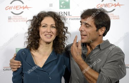 Russian Actress Ksenia Rappoport (l) and Italian Actor Adriano Giannini Pose During the Photocall For 'La Foresta Di Ghiaccio' (the Ice Forest) at the 9th Annual Rome Film Festival in Rome Italy 23 October 2014 the Festival Runs From 16 to 25 October Italy Rome