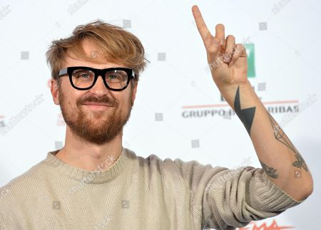 Stock Image of Italian Director Lorenzo Sportiello Poses During the Photocall For the Movie 'Index Zero' at the 9th Annual Rome Film Festival in Rome Italy 24 October 2014 the Festival Runs From 16 to 25 October Italy Rome