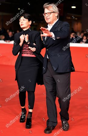 Italian Director Elisabetta Sgarbi (l) and Her Brother Italian Critic and Writer Vittorio Sgarbi (r) Arrive on the Red Carpet For the Premiere of the Movie 'Due Volte Delta' at the 9th Annual Rome Film Festival in Rome Italy 23 October 2014 the Festival Runs From 16 to 25 October Italy Rome