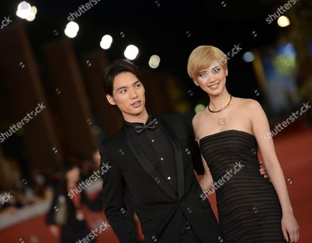 Japanese Actor Sota Fukushi (l) and Actress Hirona Yamazaki (r) Arrive For the Premiere of 'Kamisama No Iu Tori' (eng: As the Gods Will) at the 9th Annual Rome Film Festival in Rome Italy 18 October 2014 the Festival Runs From 16 to 25 October Italy Rome