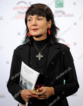 Italian Director Elisabetta Sgarbi Poses During the Photocall For the Movie 'Due Volte Delta' at the 9th Annual Rome Film Festival in Rome Italy 23 October 2014 the Festival Runs From 16 to 25 October Italy Rome