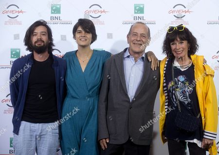 Us Actress Geraldine Chaplin (r) Poses with Directors Mexican Director Israel Cardenas (l) Dominican Republic's Laura Amelia Guzman (2-l) and French Writer Jean-noel Pancrazi (2-r) For the Photographers During the Photocall For the Movie 'Sand Dollars' at the 9th Annual Rome Film Festival in Rome Italy 21 October 2014 the Festival Runs From 16 to 25 October Italy Rome