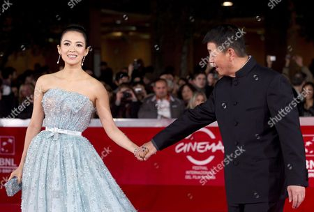 Chinese Director Gu Changwei (r) and Chinese Actress Zhang Ziyi (l) Arrive For the Premiere of Their Movie 'Love For Life' at the 6th Annual Rome Film Festival in Rome Italy 02 November 2011 the Movie is Presented in Competition at the Film Festival Runs From 27 October to 04 November Italy Rome
