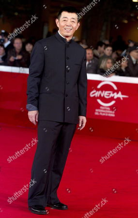 Stock Image of Chinese Director Gu Changwei Arrives For the Premiere of His Movie 'Love For Life' at the 6th Annual Rome Film Festival in Rome Italy 02 November 2011 the Movie by Chinese Director Gu Changwei is Presented in Competition at the Film Festival Runs From 27 October to 04 November Italy Rome