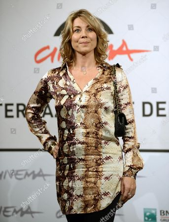 Danish Actress Anne Louise Hassing Poses During the Photocall For the Movie 'Goltzius and the Pelican Company' at the Seventh Annual Rome Film Festival in Rome Italy 12 November 2012 the Movie is Presented out Competition at the Festival That Runs From 09 to 17 November Italy Rome