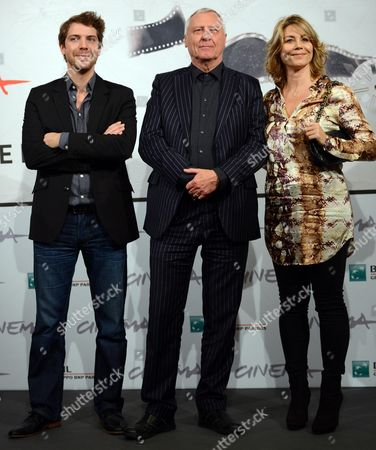 Welsh Director Peter Greenaway (c) with Danish Actress Anne Louise Hassing (r) and Dutch Actor Ramsey Nasr (l) Pose During the Photocall For the Movie 'Goltzius and the Pelican Company' at the Seventh Annual Rome Film Festival in Rome Italy 12 November 2012 the Movie is Presented out Competition at the Festival That Runs From 09 to 17 November Italy Rome