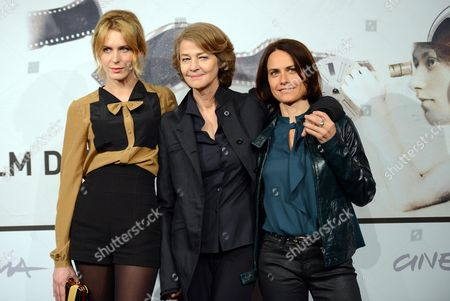 Stock Photo of (l-r) Italian Actress Elena Radonicich British Actress Charlotte Rampling and Italian Director Alina Marazzi Pose During a Photocall For 'Tutto Parla Di Te' (all About You) at the Seventh Annual International Rome Film Festival in Rome Italy 15 November 2012 the Movie is Presented in the Cinema Xxi Selection at the Festival That Runs From 09 to 17 November Italy Rome