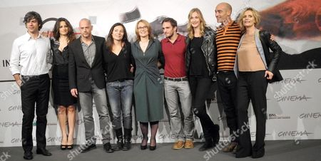 Actors and Cast Members Pose During the Photocall For the Movie 'E La Chiamano Estate' Directed by Paolo Franchi at the 7th Rome Film Festival in Rome Italy 14 November 2012 the Movie is Presented in Competition at the Festival That Runs From 09 to 17 November Italy Rome