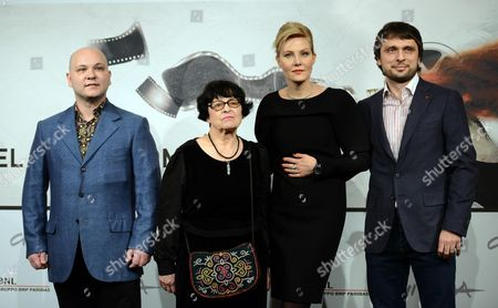 (l-r) Anton Muratov Director Kira Muratova Renata Letvinova and Oleg Kohan Pose During the Photocall For the Movie 'Eterno Ritorno: Provini' (eternal Return: Screen Tests) at the Seventh Annual Rome Film Festival in Rome Italy 16 November 2012 the Movie is Presented in Competition at the Festival That Runs From 09 to 17 November Italy Rome