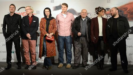 Jury Members of the in Competition Section (l-r) P J Hogan Chris Fujiwara Leyla Hatami Jeff Nichols Edgardo Cozarinsy Valentina Cervi and Timur Bekmambetov Pose During the Photocall of the Jury at the Seventh Annual Rome Film Festival in Rome Italy 09 November 2012 the Festival Runs From 09 to 17 November Italy Rome