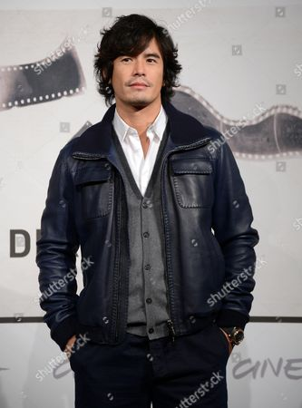 Japan's Actor Hideaki Ito Poses During the Photocall For the Movie 'Aku No Kyoten' (lesson of the Evil) at the Seventh Annual Rome Film Festival in Rome Italy 09 November 2012 the Movie is Presented in Competition at the Festival That Runs From 09 to 17 November Italy Rome