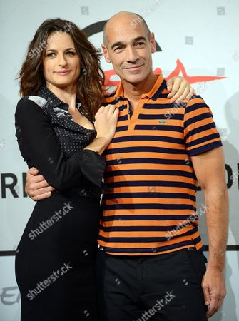 Italian Actress Anita Kravos and French-american Jean-marc Barr (r) Pose During the Photocall For the Movie 'E La Chiamano Estate' Directed by Paolo Franchi at the 7th Rome Film Festival in Rome Italy 14 November 2012 the Movie is Presented in Competition at the Festival That Runs From 09 to 17 November Italy Rome