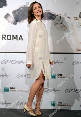 Stock Image of Russian Actress Anastacia Mikulchina Poses During the Photocall For the Movie 'V Ozidanii Morja' (waiting For the Sea) by Russian Director Bakhtiar Khudojnazarov at the Seventh Annual Rome Film Festival in Rome Italy 09 November 2012 the Movie is Presented out Competition at the Festival That Runs From 09 to 17 November Italy Rome