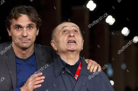 Italian Actor Pier Giorgio Bellocchio (l) and Italian Director Franco Piavoli (r) on the Red Carpet For the Movie 'Frammenti' at the 7th International Rome Film Festival in Rome Italy 13 November 2012 the Movie is Presented in the Prospettive Italia Section of the Festival Running From 09 to 17 November Italy Rome