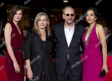 (l-r) Drake Burnette Mary Farley Us Director Larry Clark and Tina Rodriguez on the Red Carpet For the Movie 'Marfa Girl' at the 7th International Rome Film Festival in Rome 12 November 2012 the Movie is Presented in Competition at the Festival That Runs From 09 to 17 November Italy Rome