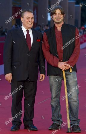 Stock Photo of Italian Director Aureliano Amadei (r) and the Man who Inspired His Film's Plot Giancarlo Parretti Arrives at the Premiere of the Movie 'Il Leone Di Orvieto' (orvieto's Lion) at the 7th International Rome Film Festival in Rome Italy 13 November 2012 the Movie is Presented in the Prospettive Italia Section of the Festival That Runs From 09 to 17 November Italy Rome