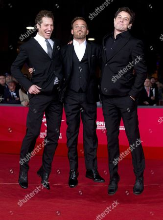 Stock Picture of (l-r) Us Co-director Gabe Polsky Us Actor/cast Member Stephen Dorff and Us Co-director Alan Polsky Arrive For the Premiere of Their Movie 'The Motel Life' at the Seventh International Rome Film Festival in Rome Italy 16 November 2012 the Movie is Presented in Competition at the Festival That Runs From 09 to 17 November Italy Rome