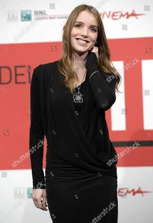 Stock Photo of Danish Actress Maja Dybboe Poses During the Photocall For 'Sorg Og Glaede (sorrow and Joy)' at the 8th Annual Rome Film Festival in Rome Italy 11 November 2013 the Movie is Presented in the Offcial Competition at the Festival That Runs From 08 to 17 November Italy Rome