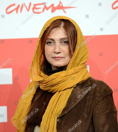 Iranian Actress/cast Member Roya Javidnia Poses During the Photocall For the Movie 'Gass (acrid)' at the 8th Annual Rome Film Festival in Rome Italy 11 November 2013 the Movie is Presented in the Official Competition at the Festival That Runs From 08 to 17 November Italy Rome