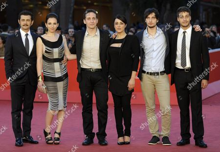 Stock Photo of Italian Director Fabio Mollo (3-l) and Cast Arrive For the Premiere of 'Il Sud E Niente' at the 8th Annual Rome Film Festival in Rome Italy 13 November 2013 the Movie is Presented out of Competition at the Festival That Runs From 08 to 17 November Italy Rome
