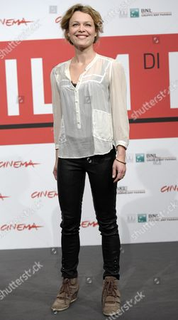 Danish Actress Helle Fagralid Poses During the Photocall For 'Sorg Og Glaede (sorrow and Joy)' at the 8th Annual Rome Film Festival in Rome Italy 11 November 2013 the Movie is Presented in the Offcial Competition at the Festival That Runs From 08 to 17 November Italy Rome