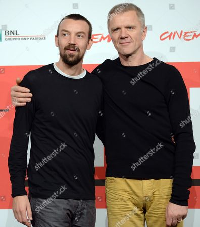 Italian Director Alberto Fasulo (l) and Slovenian Actor Branko Zavrsan Pose During the Photocall For 'Tir' at the 8th Annual Rome Film Festival in Rome Italy 15 November 2013 the Movie is Presented in the Official Competition at the Festival That Runs From 08 to 17 November Italy Rome