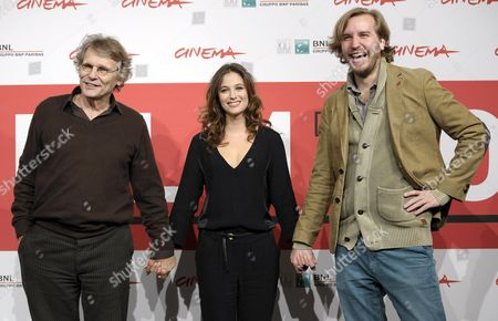 French Director Nicolas Bary (l) and French Actress Melanie Bernier (r) and French Writer Daniel Pennac (l) Pose During the Photocall For 'Au Bonheur Des Ogres' (the Scapegoat) at the 8th Annual Rome Film Festival in Rome Italy 13 November 2013 the Movie is Presented out of Competition at the Festival That Runs From 08 to 17 November Italy Rome