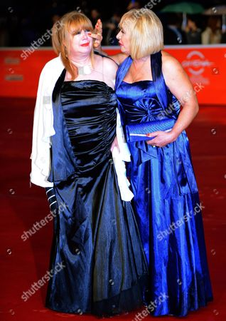 (l-r) Romanian Actress Marianna Dadiloveanu and Italian Cast Member Giuseppe/beatrice Della Pelle Arrive For the Premiere of 'Fuoristrada' at the 8th Annual Rome Film Festival in Rome Italy 15 November 2013 the Movie is Presented out of Competition at the Festival That Runs From 08 to 17 November Italy Rome