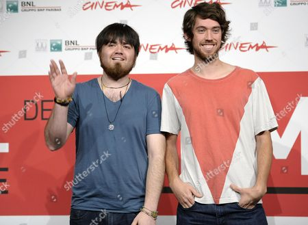 Stock Picture of Co-directors Diego Ayala (l) and Anibal Jofre Pose During the Photocall For 'Volantin Cortao (cut Down Kite)' at the 8th Annual Rome Film Festival in Rome Italy 14 November 2013 the Movie is Presented in the Official Competition at the Festival That Runs From 08 to 17 November Italy Rome