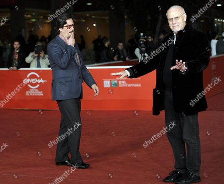 Us Producer Roman Coppola (l) and Artistic Director of the Rome Film Festival Marco Muller (r) Arrive For the Premiere of 'Castello Cavalcanti' at the 8th Annual Rome Film Festival in Rome Italy 13 November 2013 the Movie is Presented out of Competition at the Festival That Runs From 08 to 17 November Italy Rome