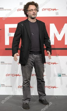 Stock Image of Italian Director Antonio Morabito Poses During the Photocall For 'The Medicine Seller (il Venditore Di Medicine)' at the 8th Annual Rome Film Festival in Rome Italy 11 November 2013 the Movie is Presented in out Competition at the Festival That Runs From 08 to 17 November Italy Rome