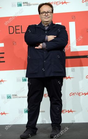 Stock Image of Italian Director Carlo Carlei Poses During the Photocall For the Movie 'Romeo and Juliet' at the 8th Annual Rome Film Festival in Rome Italy 11 November 2013 the Movie is Presented out of Competition at the Festival That Runs From 08 to 17 November Italy Rome
