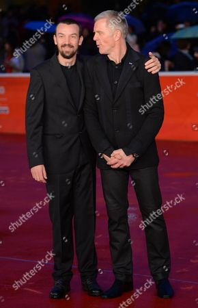 Italian Director Alberto Fasulo (l) and Slovenian Actor/cast Member Branko Zavrsan (r) Arrive For the Premiere of 'Tir' at the 8th Annual Rome Film Festival in Rome Italy 15 November 2013 the Movie is Presented in the Official Competition at the Festival That Runs From 08 to 17 November Italy Rome