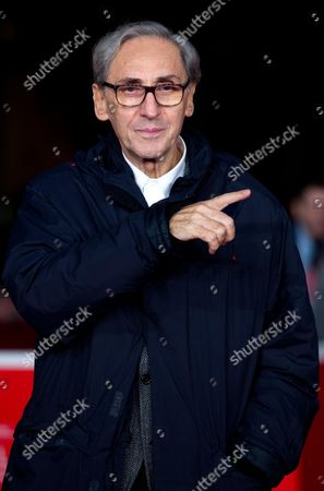 Italian Singer Franco Battiato Poses on the Red Carpet at Rome's Park of the Music Auditorium As He Arrives For the Screening of a Movie at the 8th Annual Rome Film Festival in Rome Italy 12 November 2013 Italy Rome