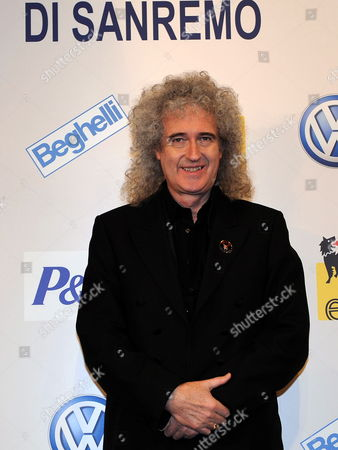 British Musician Brian May Attends a Photocall During the 62nd Annual Sanremo Music Festival in Sanremo Italy 15 February 2012 May Will Perform with Irene Fornaciari at the Ariston Theatre on 16 February As Part of the Music Festival That Runs Until 18 February Italy Sanremo