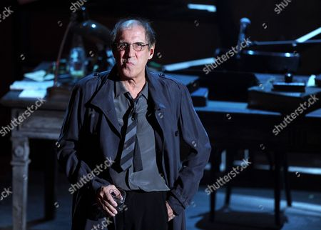 Italian Singer Actor and Director Adriano Celentano Onstage at the Ariston Theatre on the First Night of the 62nd Annual Sanremo Music Festival in Sanremo Italy 14 February 2012 the Music Festival Runs Until 18 February Italy Sanremo