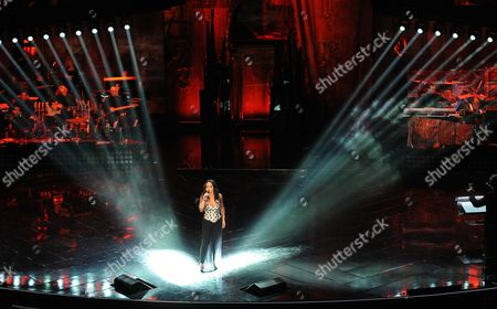 Italian Singer Maria Nazionale Performs During the Third Night of the 63rd Sanremo Italian Song Festival at the Ariston Theatre in Sanremo Italy 14 February 2013 the Sanremo Italian Song Festival Runs From 12 to 16 February Italy Sanremo
