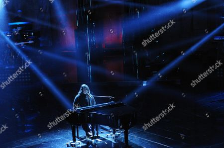 British Singer Antony Hegarty Performs During the Third Night of the 63rd Sanremo Italian Song Festival at the Ariston Theatre in Sanremo Italy 14 February 2013 the Sanremo Italian Song Festival Runs From 12 to 16 February Italy Sanremo