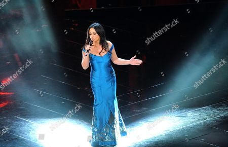Italian Singer Maria Nazionale Performs the Song 'E' Colpa Mia' During the Closing Night of the 63rd Sanremo Italian Song Festival at the Ariston Theatre in Sanremo Italy 16 February 2013 Italy Sanremo