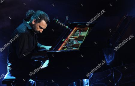 Italian Jazz Pianist Stefano Bollani Performs During the Fourth Night of the 63rd Sanremo Italian Song Festival at the Ariston Theatre in Sanremo Italy 15 February 2013 the Sanremo Italian Song Festival Runs From 12 to 16 February Italy Sanremo