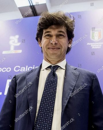Candidate Demetrio Albertini Attends an Election For the Italian Football Federation (figc) Presidency in Rome 11 August 2014 Figc Vice-president Carlo Tavecchio Faces Former Ac Milan and Italy Midfielder Albertini in the Election to Choose a Replacement For Giancarlo Abete who Quit Following the World Cup Italy Rome