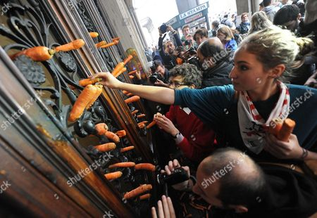 Editorial photo of Italy Students' Protest - Oct 2012