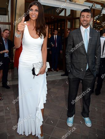 Former Miss Italy 2004 and Tv Personality Cristina Chiabotto (l) and Boyfriend Italian Actor Fabio Fulco (r) Attend a Party During the 58th Taormina Film Festival in Messina Sicily Island Italy 23 June 2012 the Festival Runs From 22 to 28 June Italy Taormina