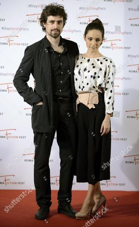 Italian Actors/cast Members Flavio Parenti (l) and Valentina Corti Pose During a Photocall For the Television Series 'Un Medico in Famiglia' (lit : a Doctor in the Family) at the Roma Fiction Fest in Rome Italy 15 November 2015 the Festival Runs From 11 to 15 November Italy Rome