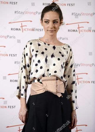 Italian Actress/cast Member Valentina Corti Poses During a Photocall For the Television Series 'Un Medico in Famiglia' (lit : a Doctor in the Family) at the Roma Fiction Fest in Rome Italy 15 November 2015 the Festival Runs From 11 to 15 November Italy Rome