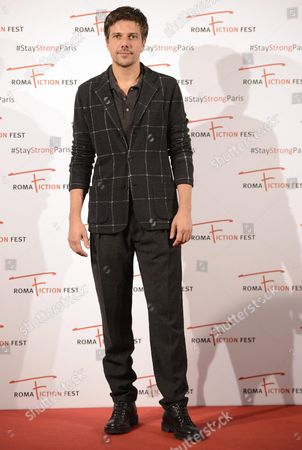 Italian Actor/cast Member Domenico Diele Poses During a Photocall For the Television Series 'Limbo' at the Roma Fiction Fest in Rome Italy 14 November 2015 the Festival Runs From 11 to 15 November Italy Rome