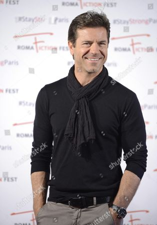 Italian Actor/cast Member Paolo Conticini Poses During a Photocall For the Television Series 'Un Medico in Famiglia' (lit : a Doctor in the Family) at the Roma Fiction Fest in Rome Italy 15 November 2015 the Festival Runs From 11 to 15 November Italy Rome