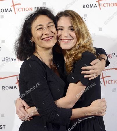 Italian Director Anna Negri (l) and Italian Actress/cast Member Isabella Ragonese Pose During a Photocall For the Television Series 'Fuori ' at the Roma Fiction Fest in Rome Italy 15 November 2015 the Festival Runs From 11 to 15 November Italy Rome