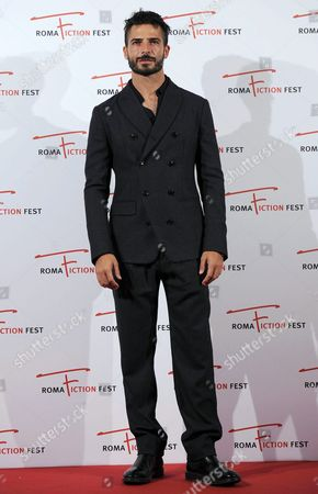 Stock Image of Italian Actor Marco Bocci Poses During a Photocall For the 'Telegatto Speciale 2015' Award at the Roma Fiction Fest in Rome Italy 12 November 2015 the Festival Runs From 11 to 15 November Italy Rome